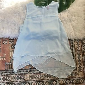 Vince Camuto Light Blue Sleeveless Blouse